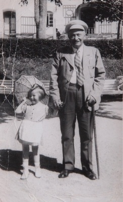 Little Věra with her grandfather