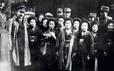 Felix's uncle with Japanese refugees in Vladivostok
