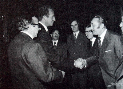 Felix accepted by the Spanish king Juan Carlos I – March 1976