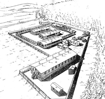 Plan of the camp in Lety
