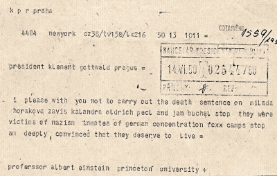 Einstein´s telegram asking for a pardon of