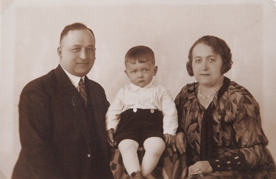 With parents around 1932