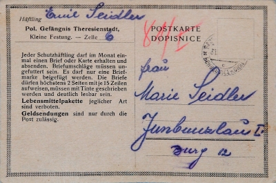 Daddy´s postcard from Terezín