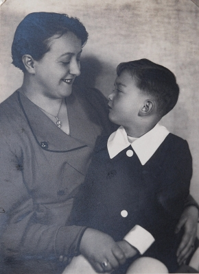 With Mother Marie, 1934