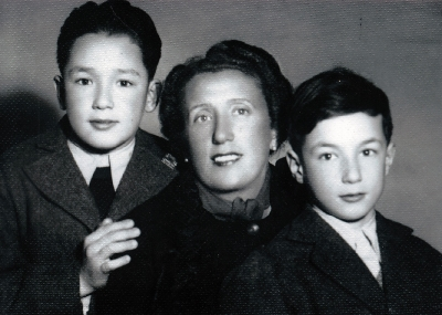 Hugo with mother and brother Rudy, July 1939