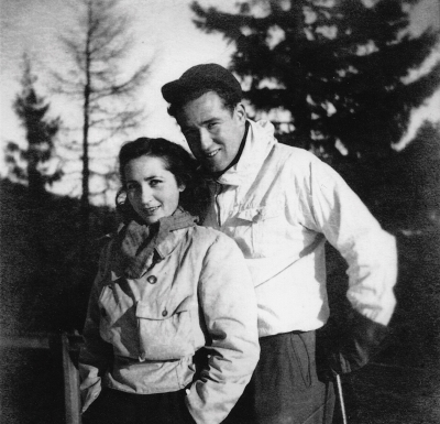 Hugo and Martha on a honeymoon, shortly before leaving to Israel,