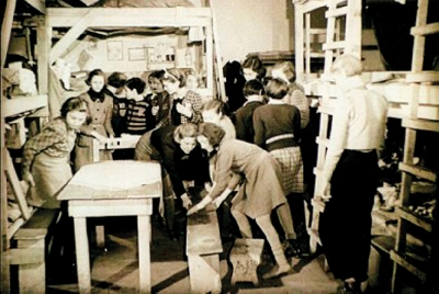 From the fi lm document, the room where lived little Dagmar (Terezín ghetto 1942)