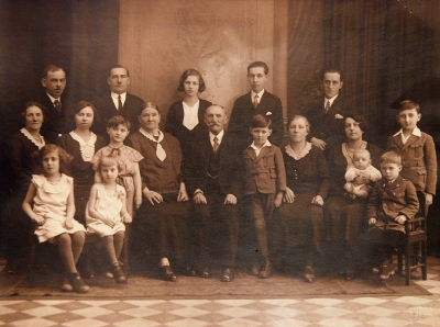 The Moulis family, Miloslav is standing right